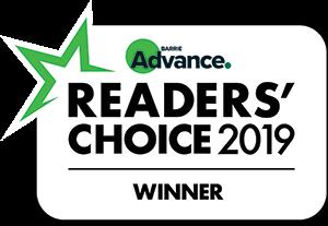 Readers' choice barrie advance award