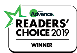 Readers' choice barrie advance award